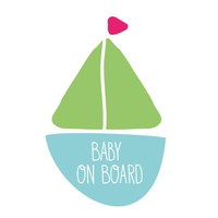 Sticker Baby on Board Boot Jungen
