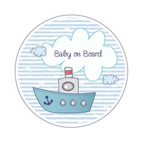 Sticker Baby on Board Schiff Jungen