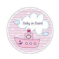 Sticker Baby on Board Schiff Mädchen