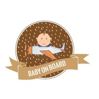 Sticker Baby on Board Flieger