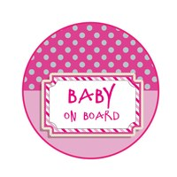 Sticker Baby on Board Muster Mädchen