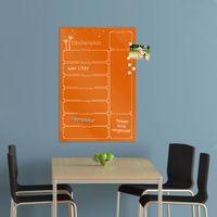 Wochenplaner in der Farbe Orange aus Glas mit Stift – Bild 7