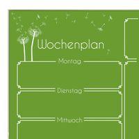 Wochenplaner in der Farbe Grasgrün aus Glas mit Stift – Bild 3