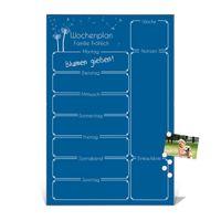 Wochenplaner in der Farbe Signalblau aus Glas mit Stift – Bild 12