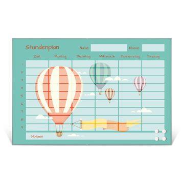 Stundenplan aus Glas Motiv Vier Ballons