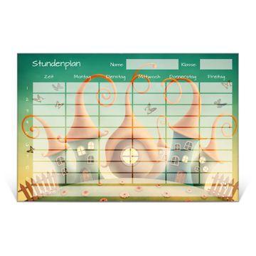 Stundenplan aus Glas Motiv Zwergenhausen