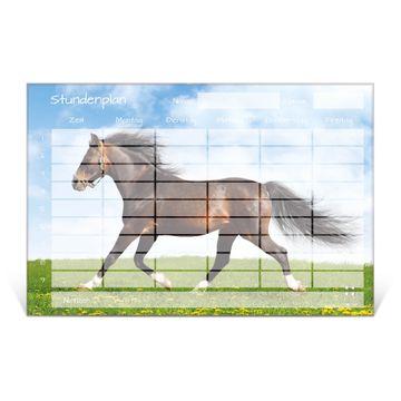 Stundenplan aus Glas Motiv Pferd