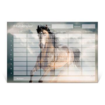 Stundenplan aus Glas Motiv Wild Pferd