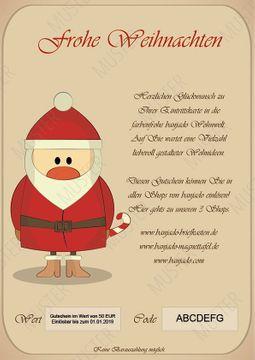 Last Minute Weihnachten 2 Gutschein 100€ (E-Mail Versand)