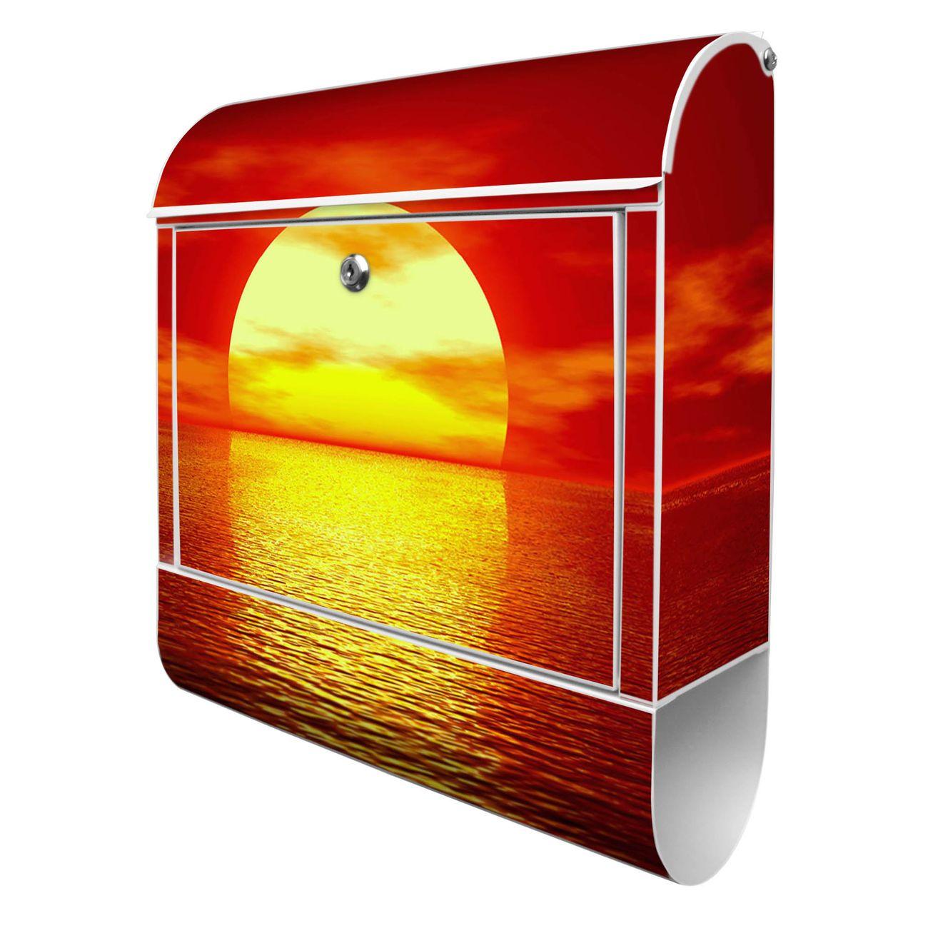 Großer Stahl Briefkasten Sonnenuntergang