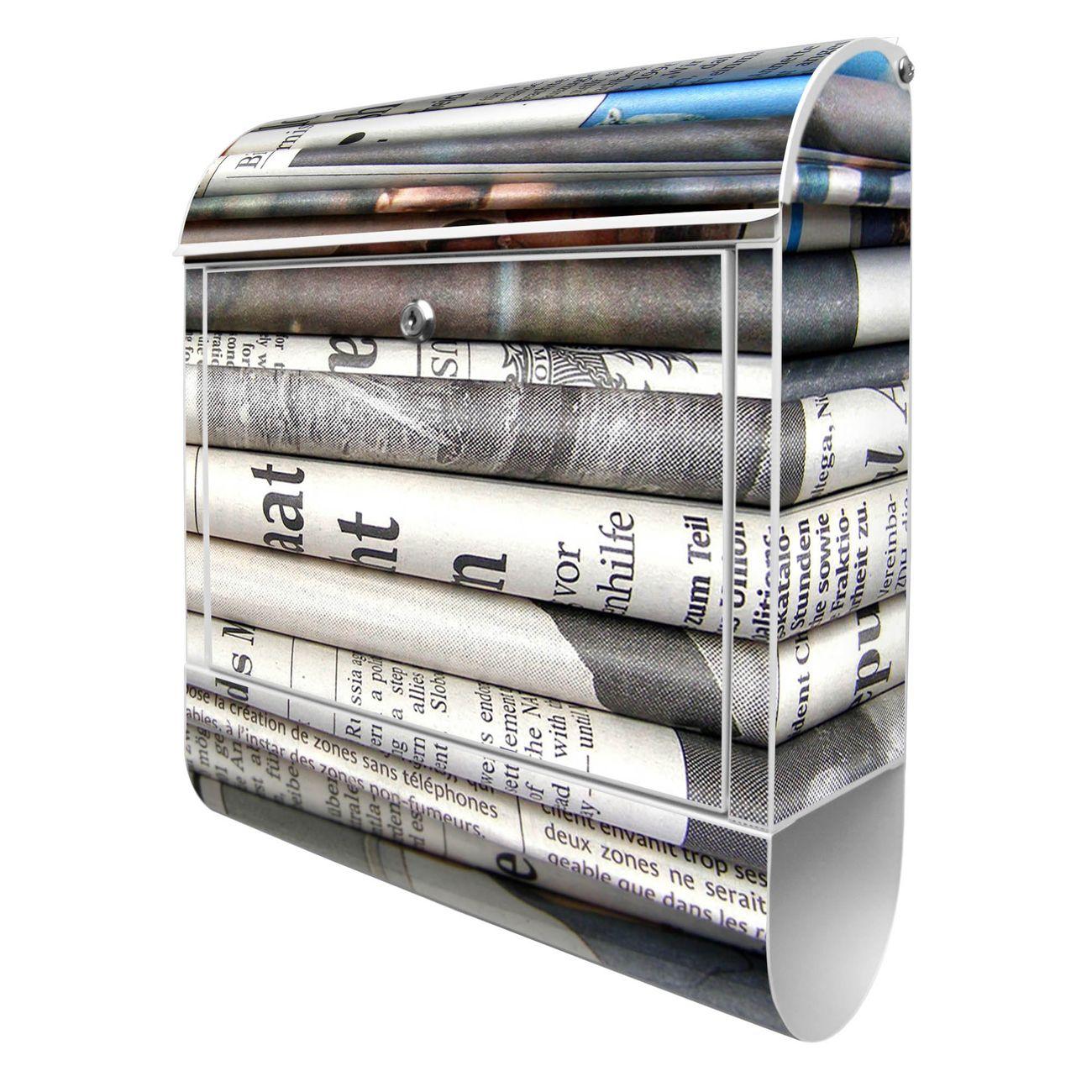 Großer Stahl Briefkasten Zeitungen
