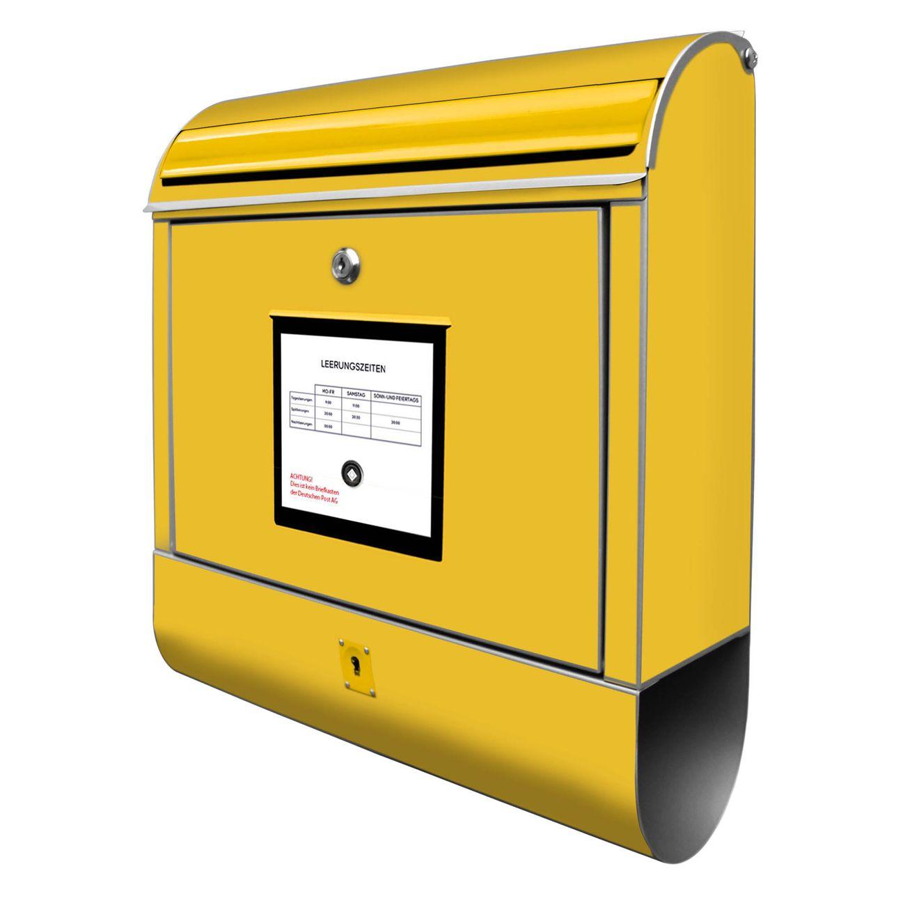 Großer Stahl Briefkasten Briefkasten Gelb