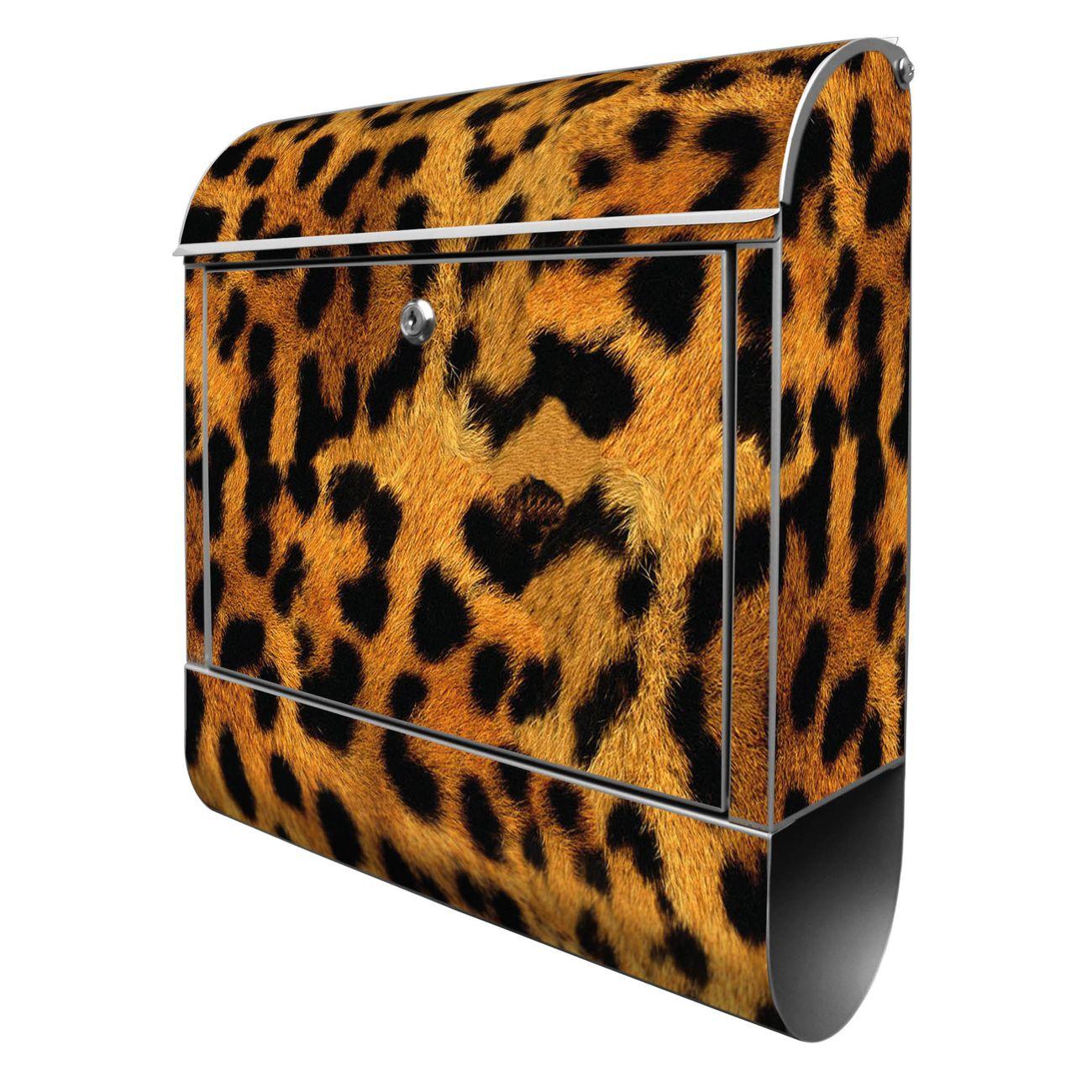 Großer Stahl Briefkasten Leopard