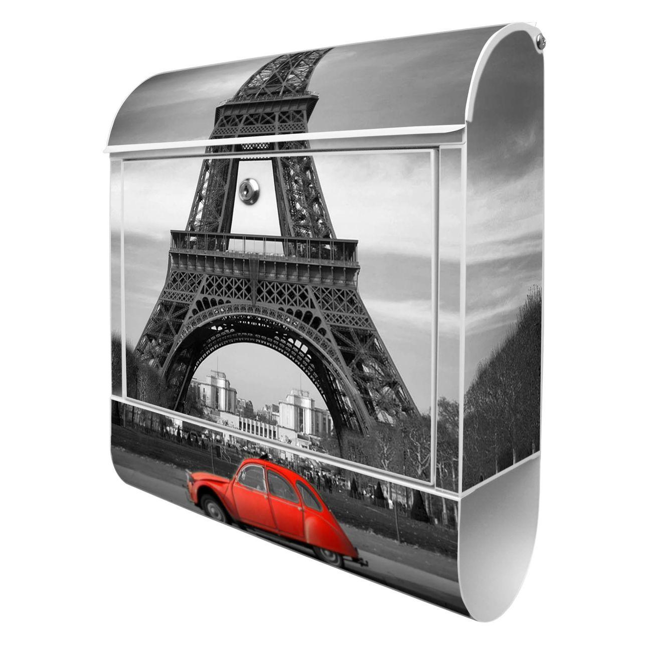 Großer Stahl Briefkasten Paris