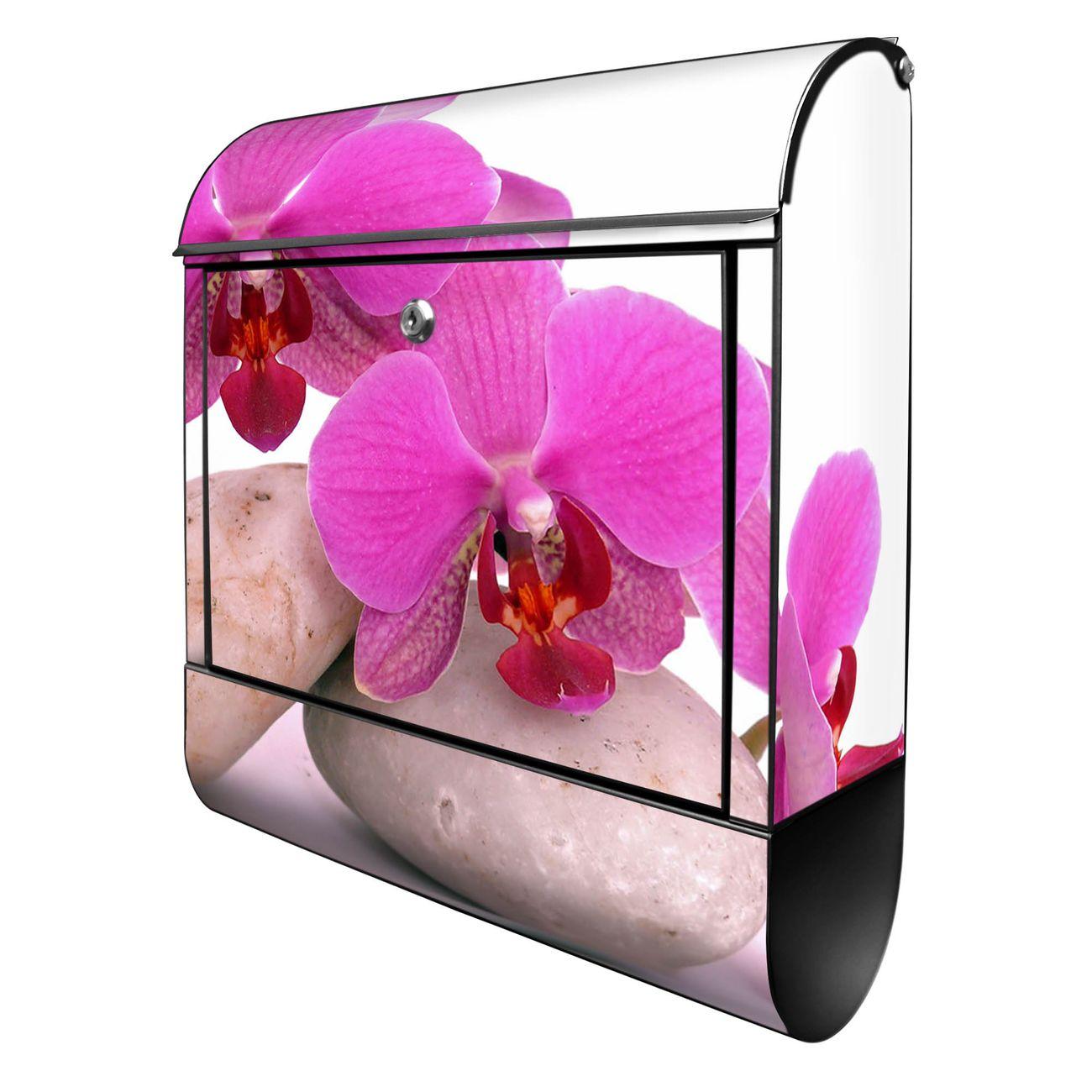 Großer Stahl Briefkasten Orchidee