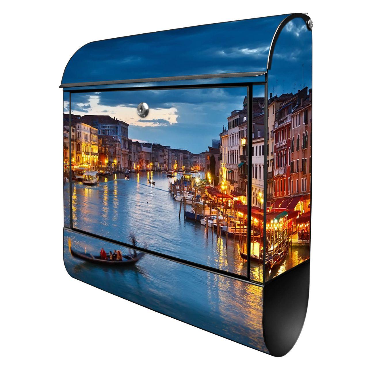 Großer Stahl Briefkasten Canale Grande Bei Nacht
