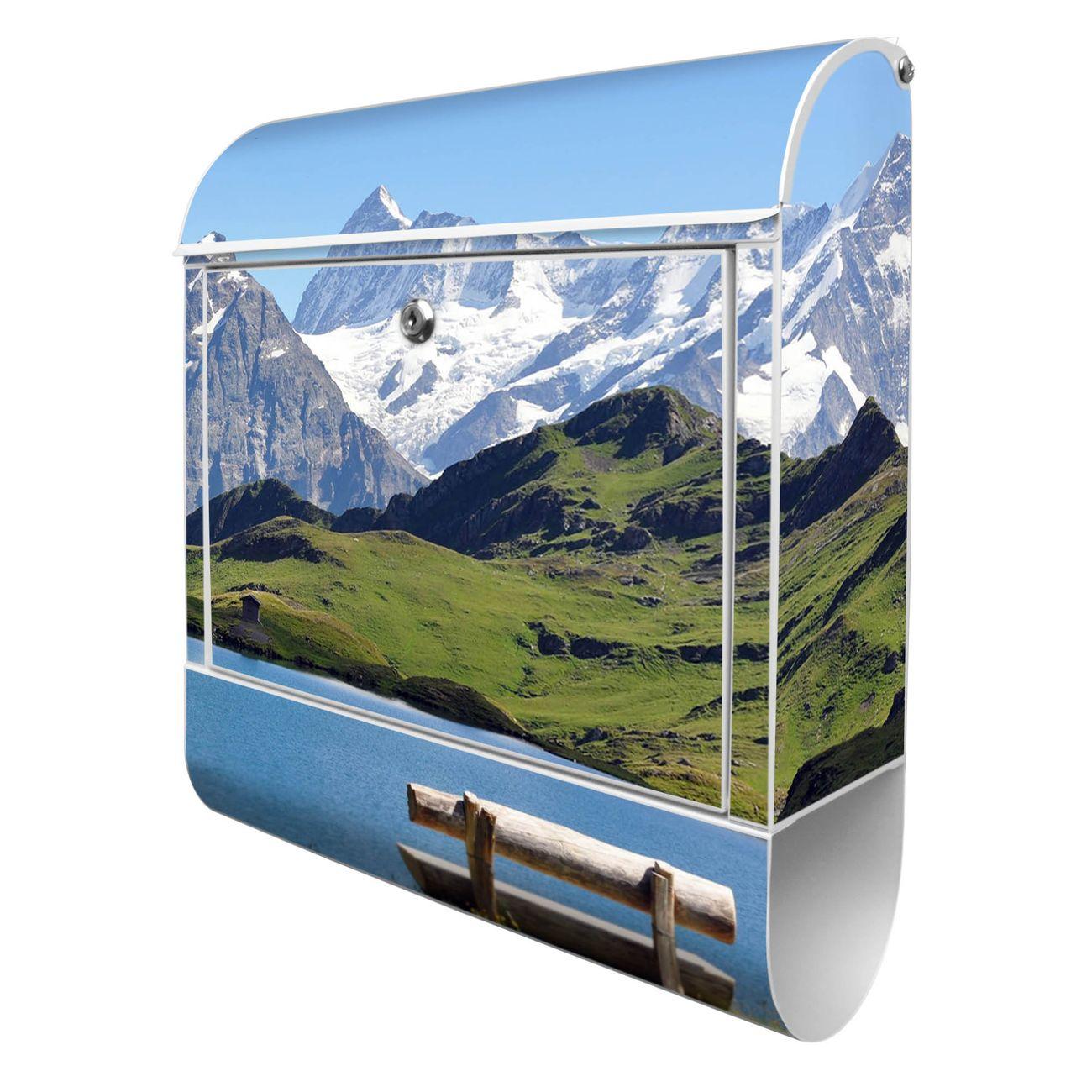 Großer Stahl Briefkasten Alpen