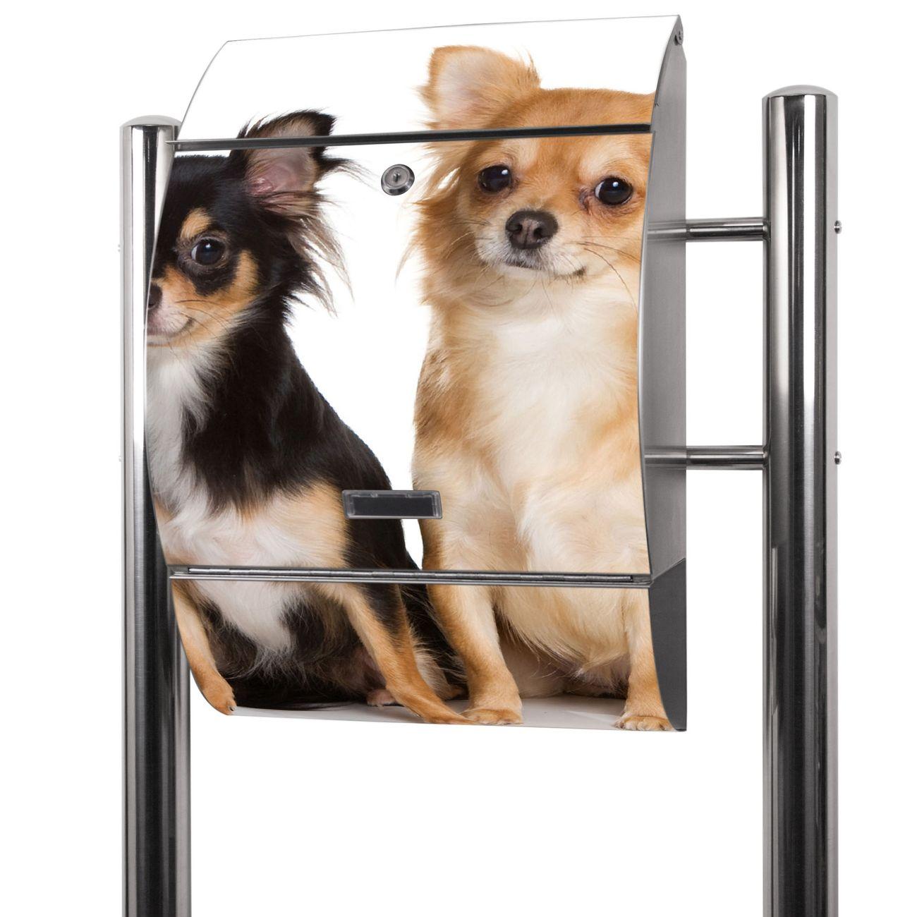 Edelstahl Standbriefkasten Chihuahua