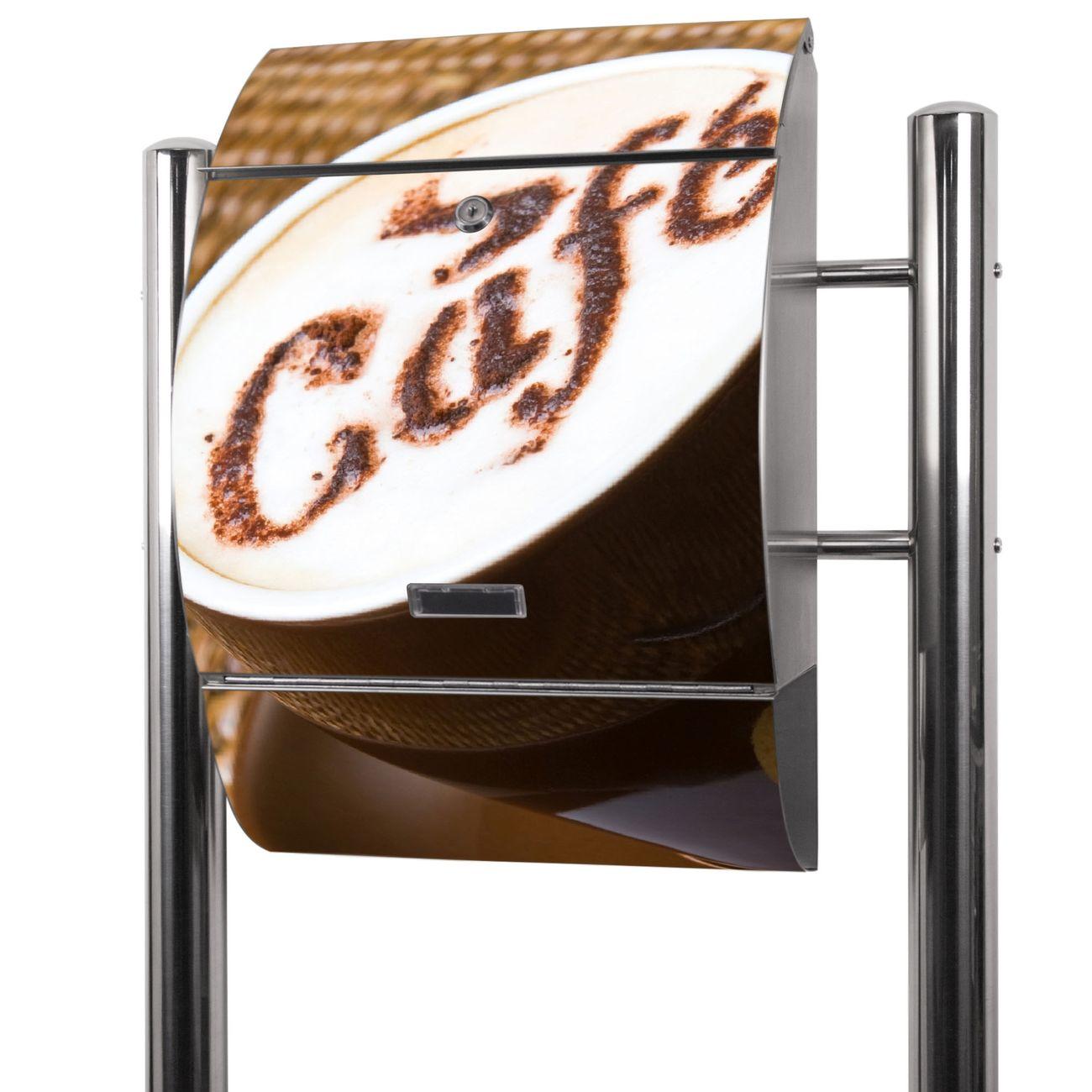 Edelstahl Standbriefkasten Cafe