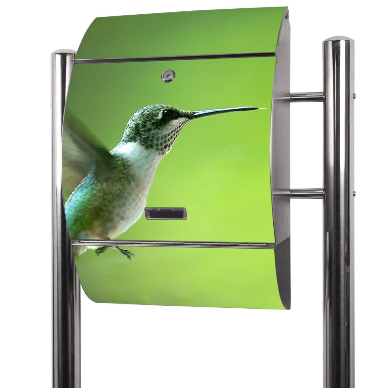 Edelstahl Standbriefkasten Kolibri