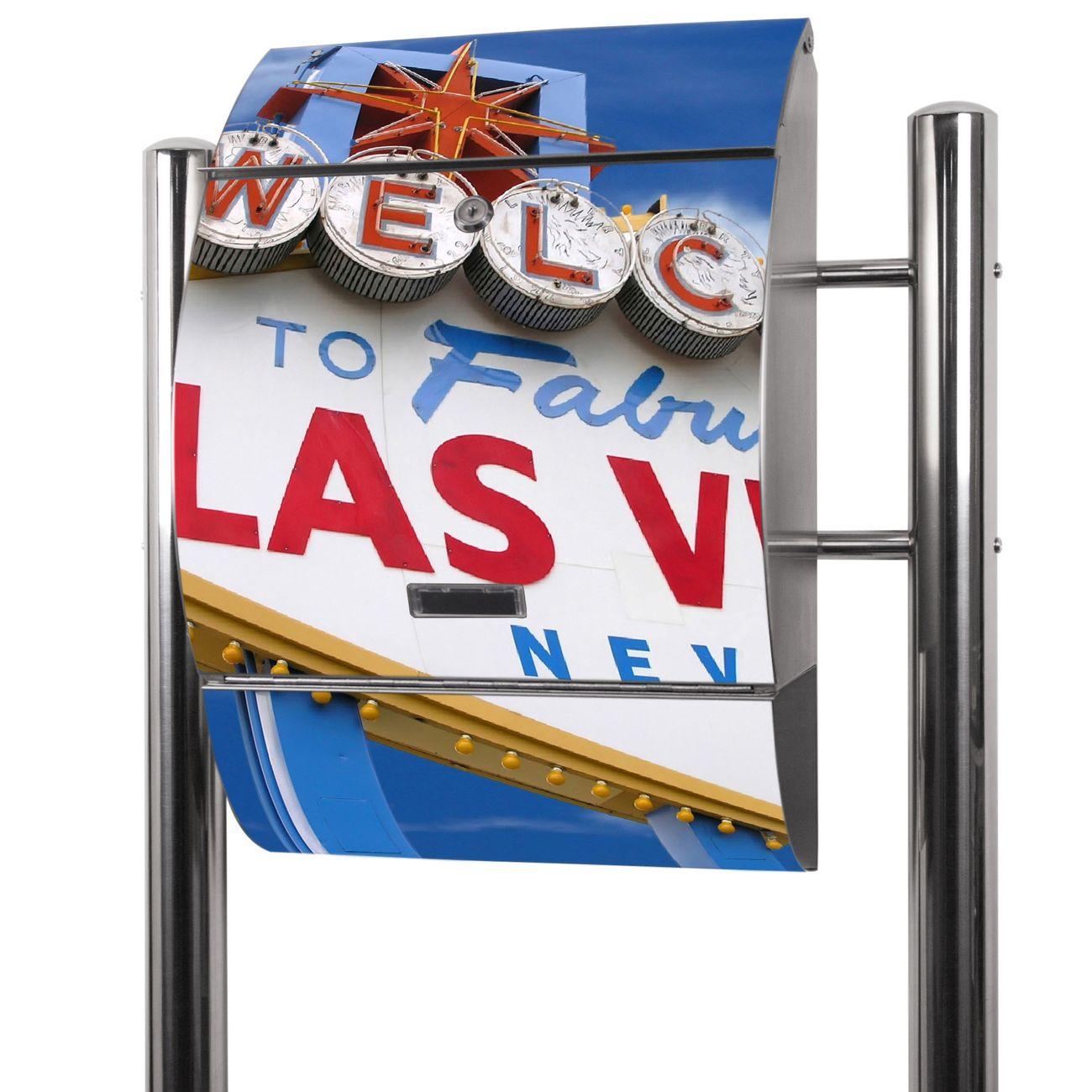 Edelstahl Standbriefkasten Las Vegas