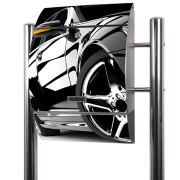 Edelstahl Standbriefkasten Luxus Car