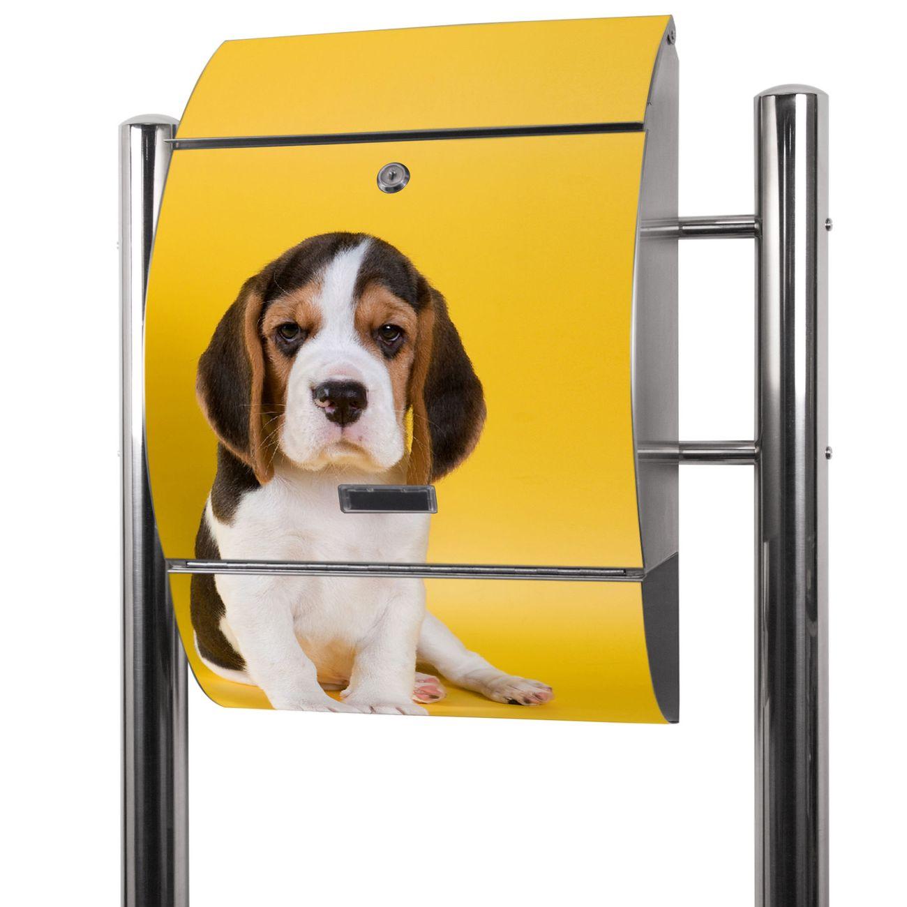 Edelstahl Standbriefkasten Beagle