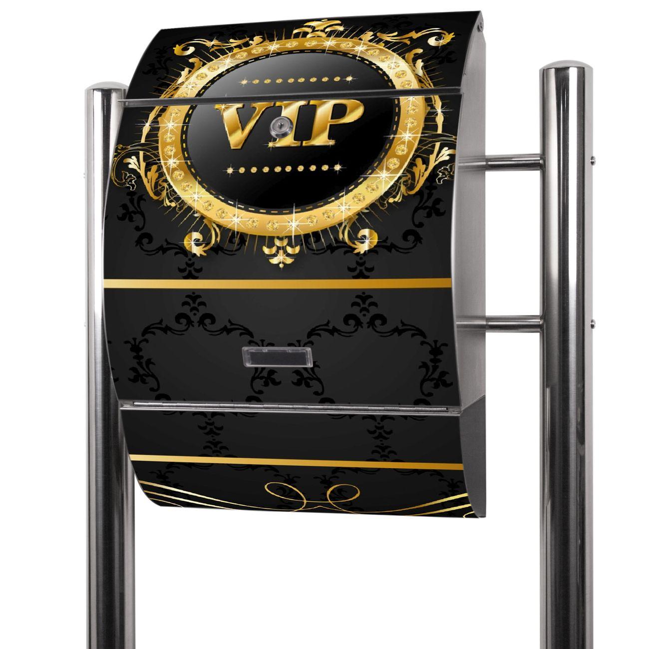 Edelstahl Standbriefkasten VIP