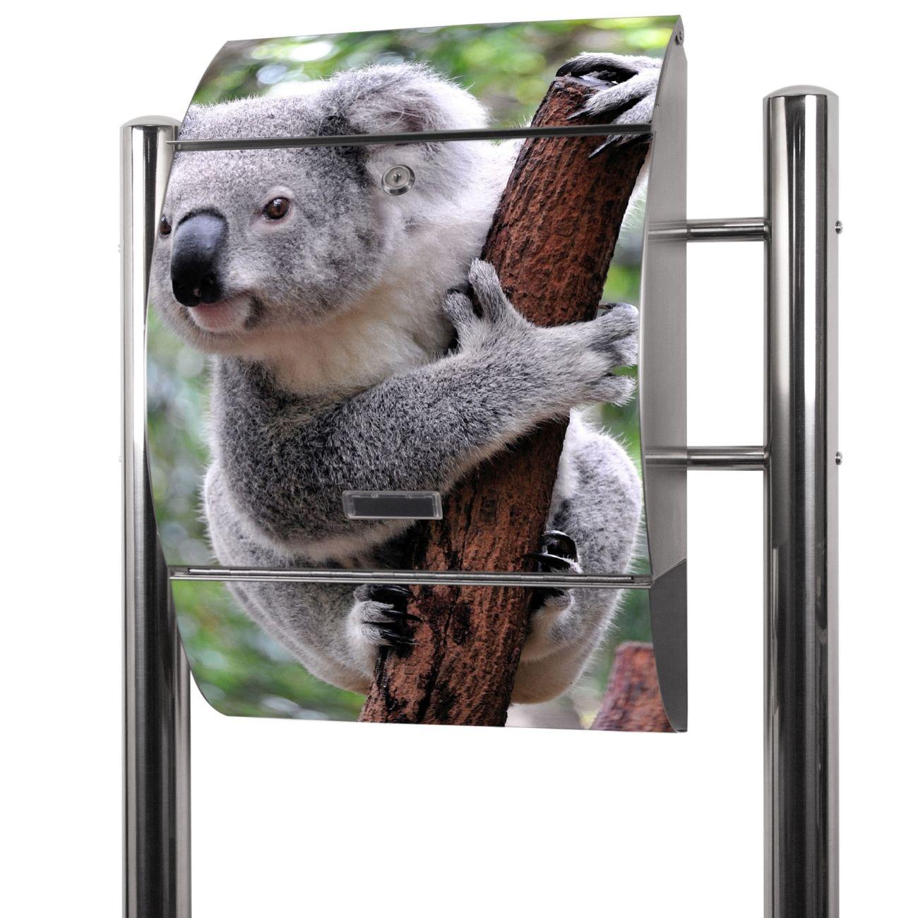 Edelstahl Standbriefkasten Koala