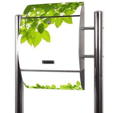 Edelstahl Standbriefkasten Rahmen Blätter