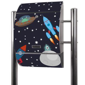 Edelstahl Standbriefkasten Space Traffic