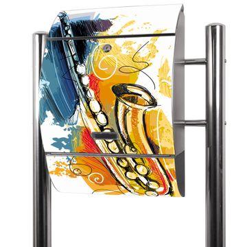 Edelstahl Standbriefkasten Saxophon