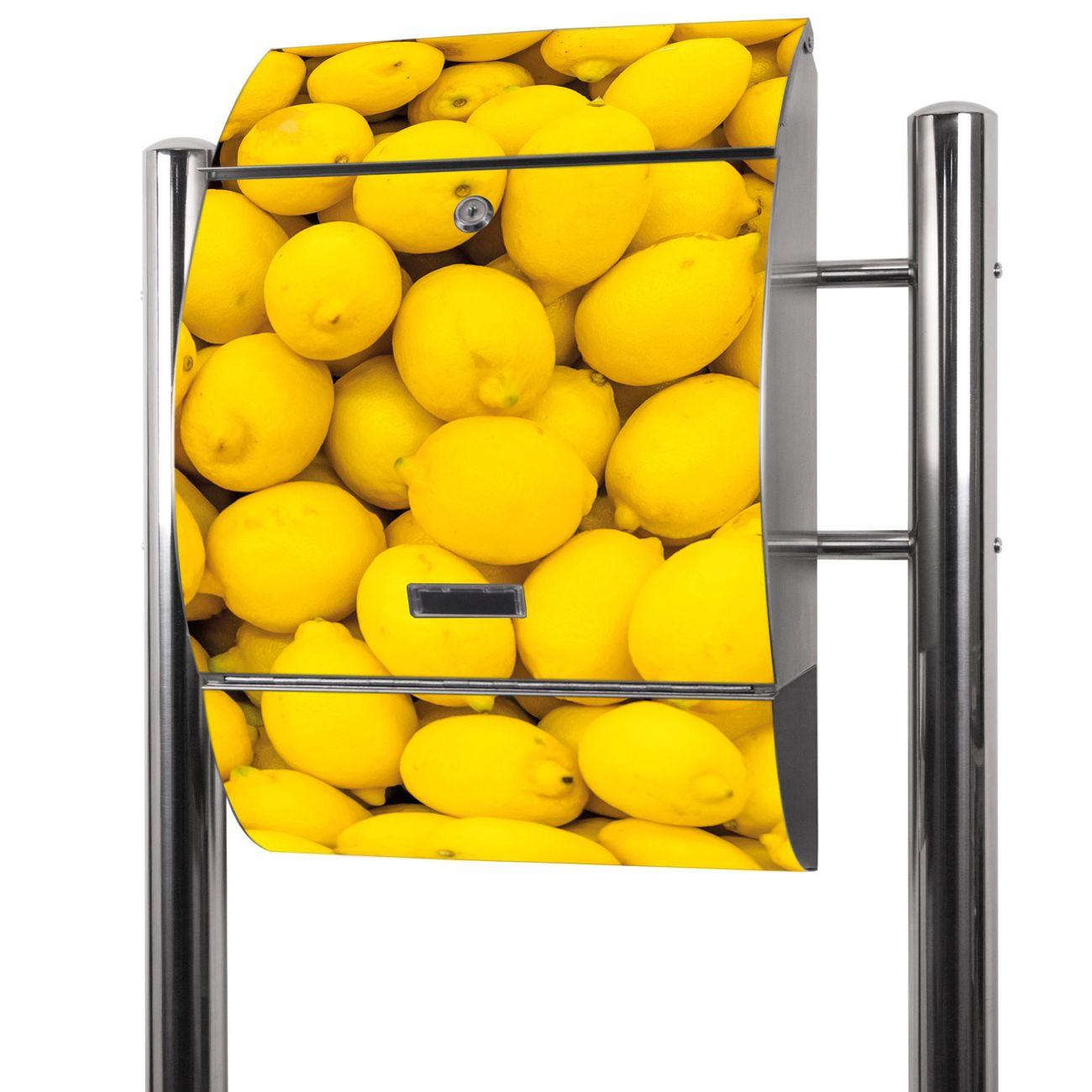Edelstahl Standbriefkasten Zitronen