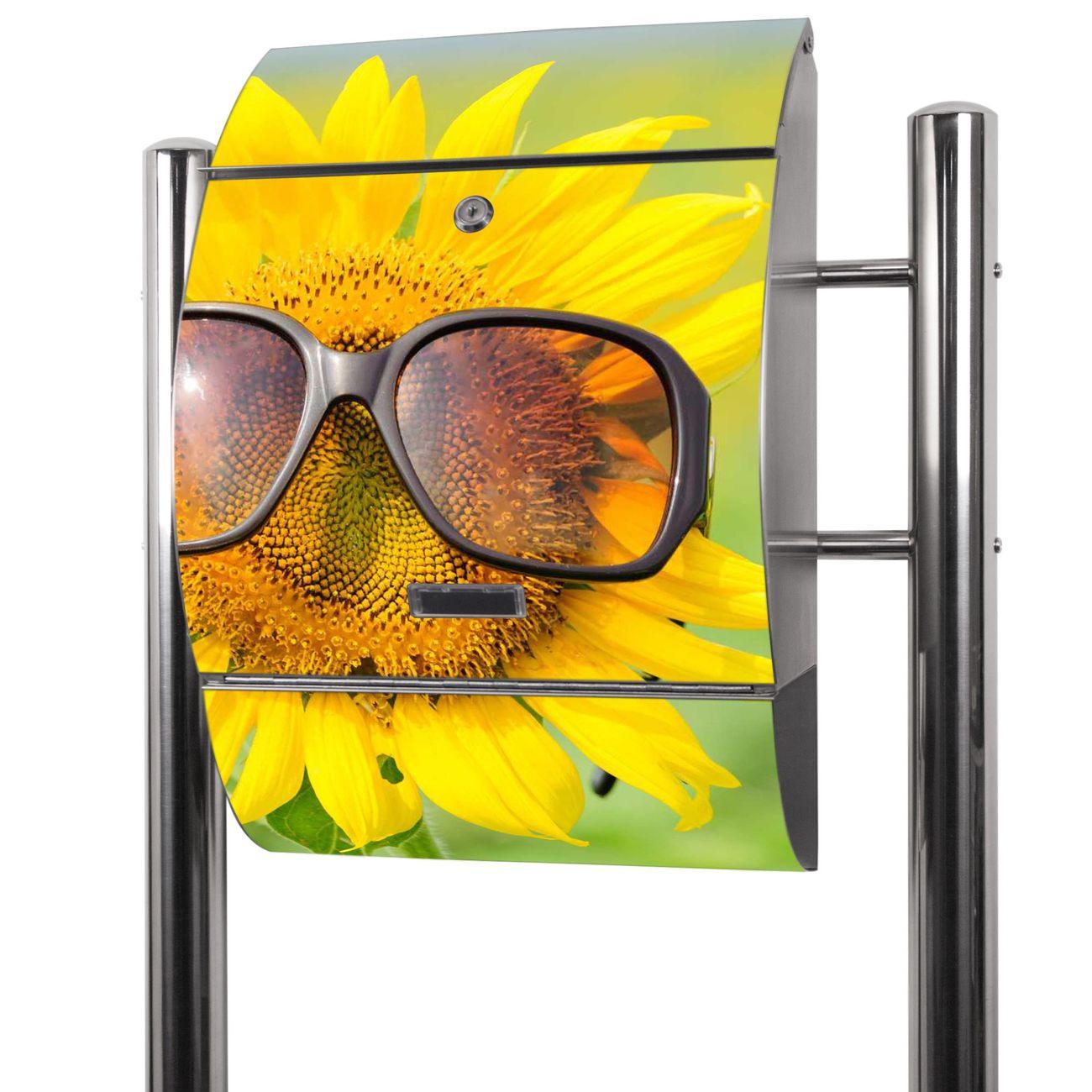 Edelstahl Standbriefkasten Sunny