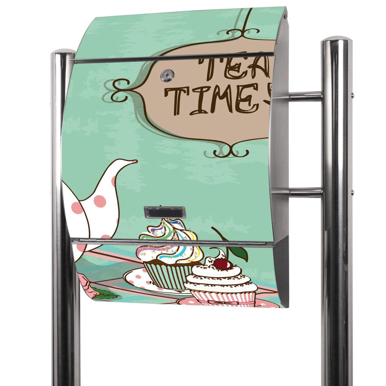 Edelstahl Standbriefkasten Tea Time