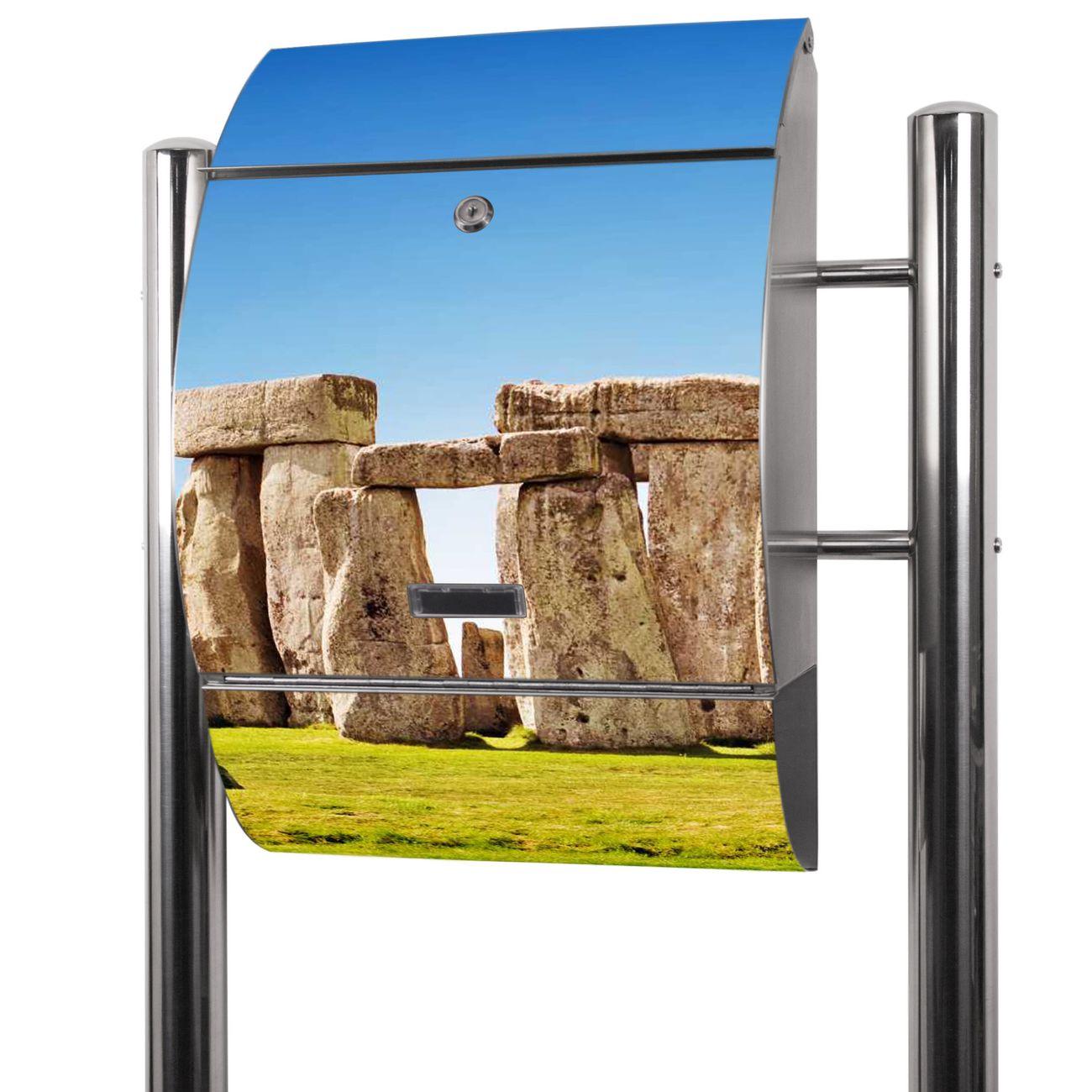 Edelstahl Standbriefkasten Stonehenge