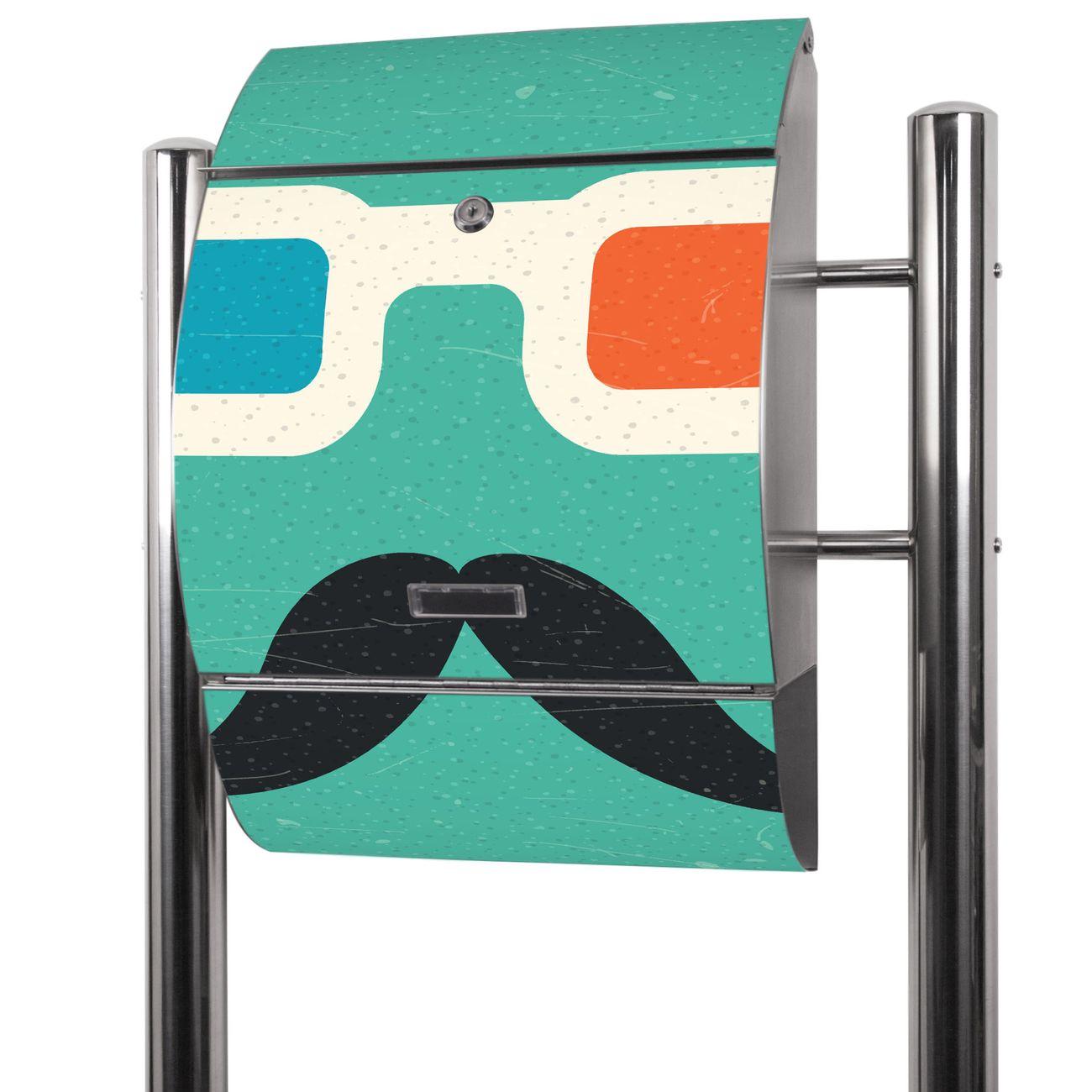 Edelstahl Standbriefkasten Kinobrille