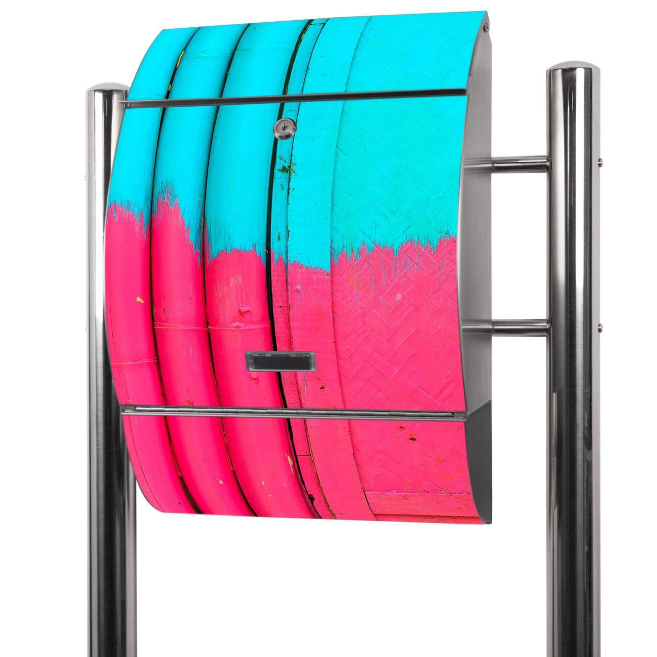 Edelstahl Standbriefkasten Zwei Farben