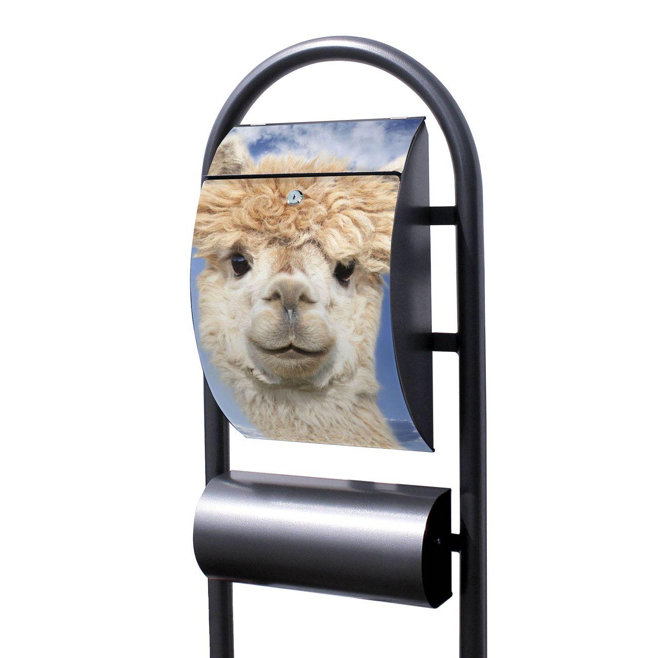 Standbriefkasten Hammerschlag Lama