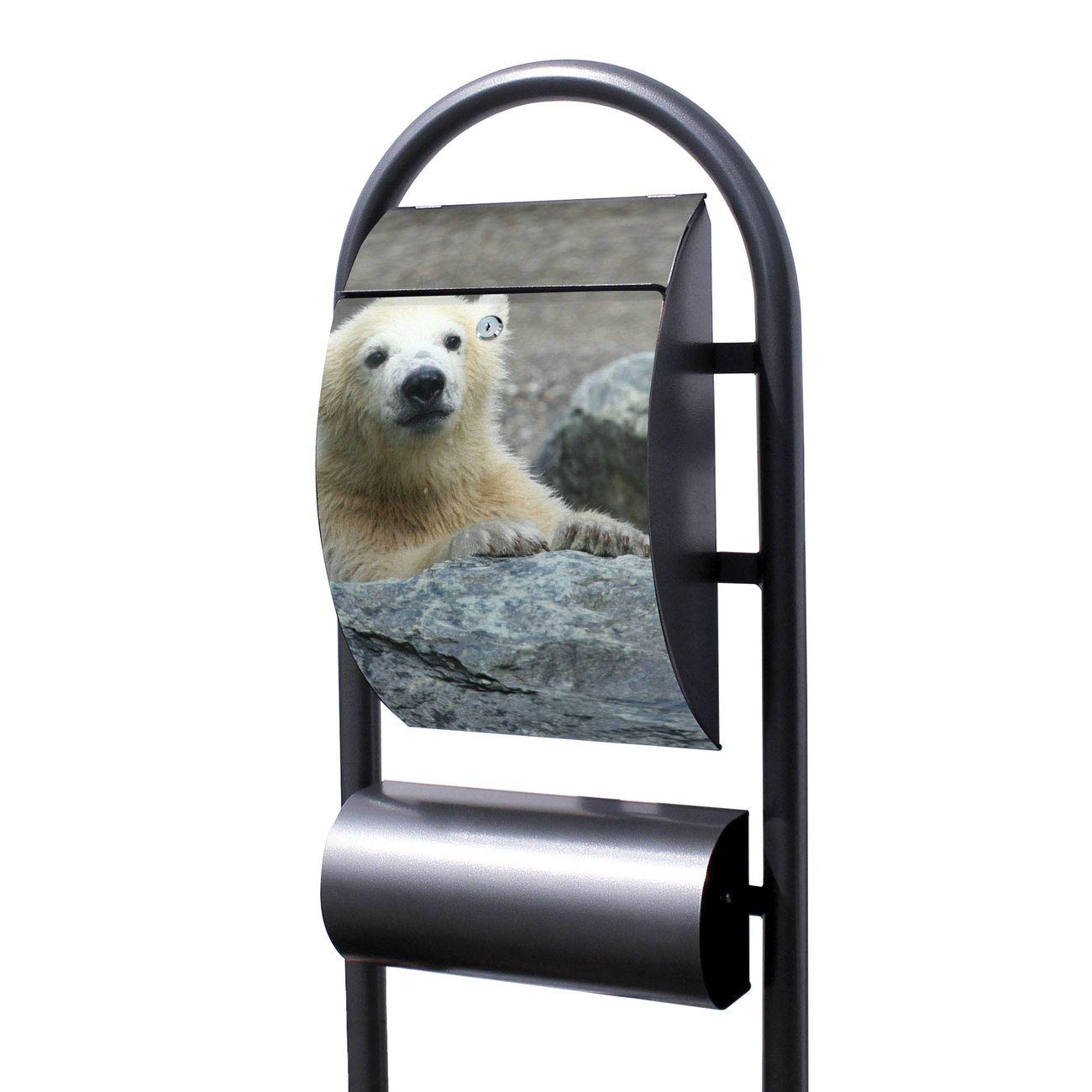 Standbriefkasten Hammerschlag Eisbär Baby