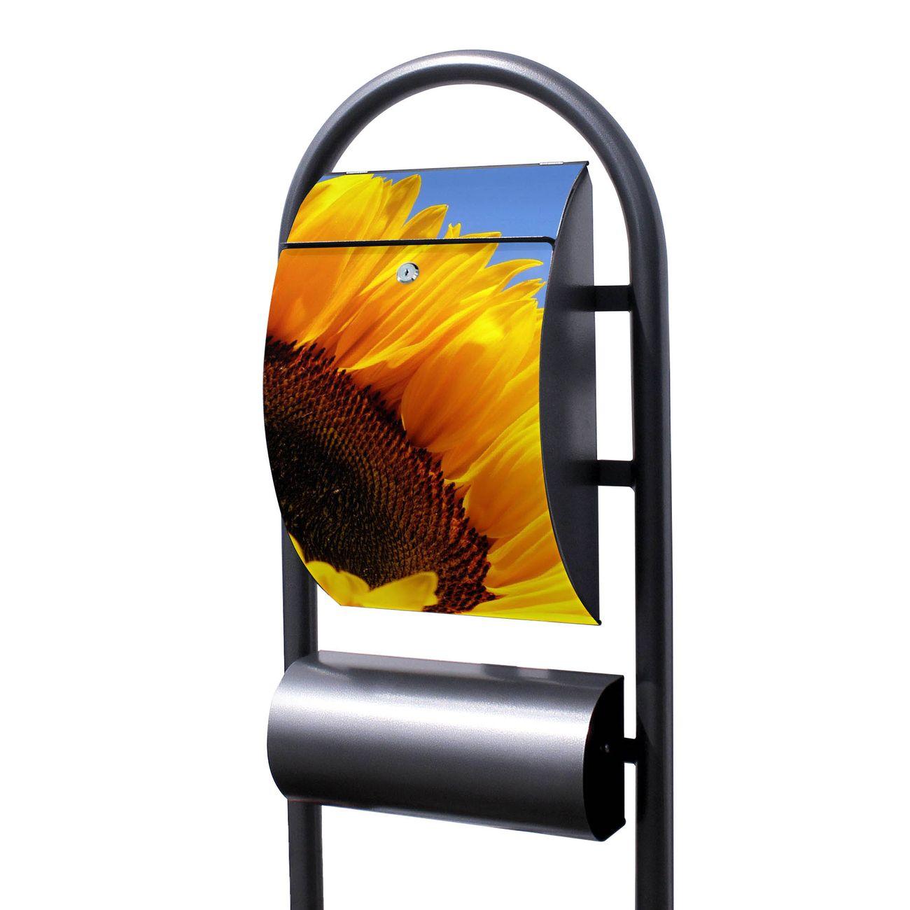 Standbriefkasten Hammerschlag Sonnenblume
