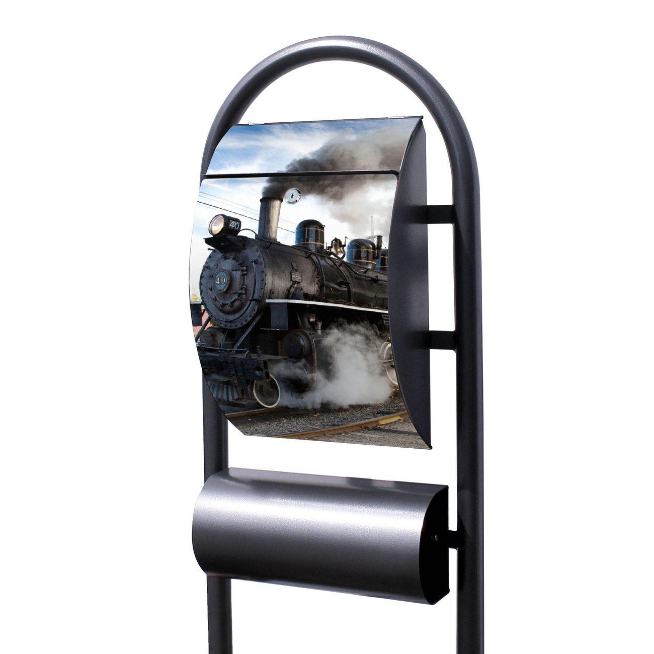 Standbriefkasten Hammerschlag Dampflok