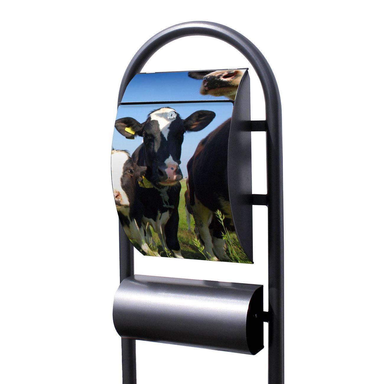 Standbriefkasten Hammerschlag Kühe