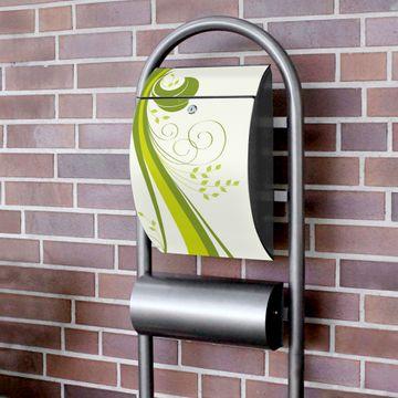 Standbriefkasten Hammerschlag Green Swirl
