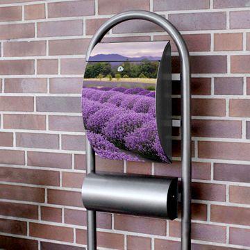 Standbriefkasten Hammerschlag Lavendel