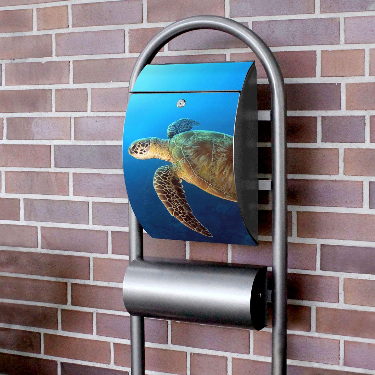Standbriefkasten Hammerschlag Wasserschildkröte