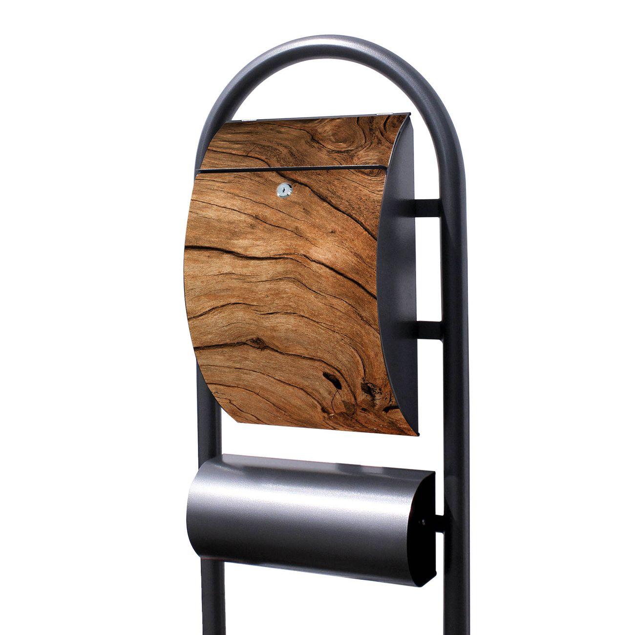 Standbriefkasten Hammerschlag Trockenes Holz