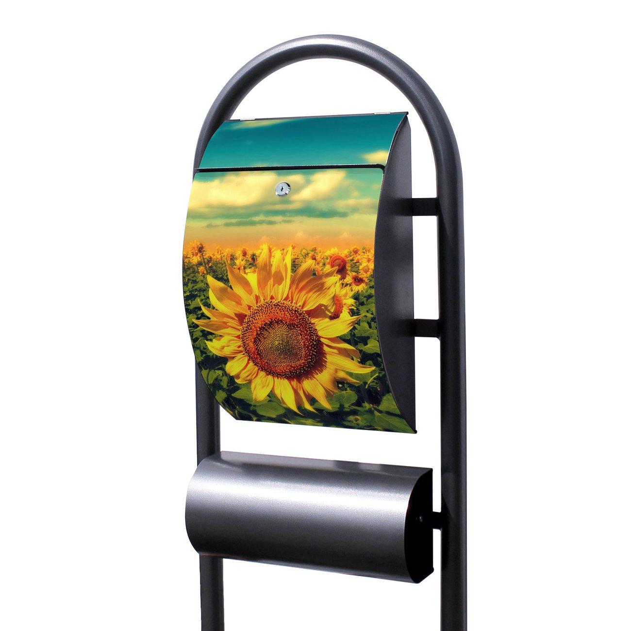 Standbriefkasten Hammerschlag Sonnenblumen