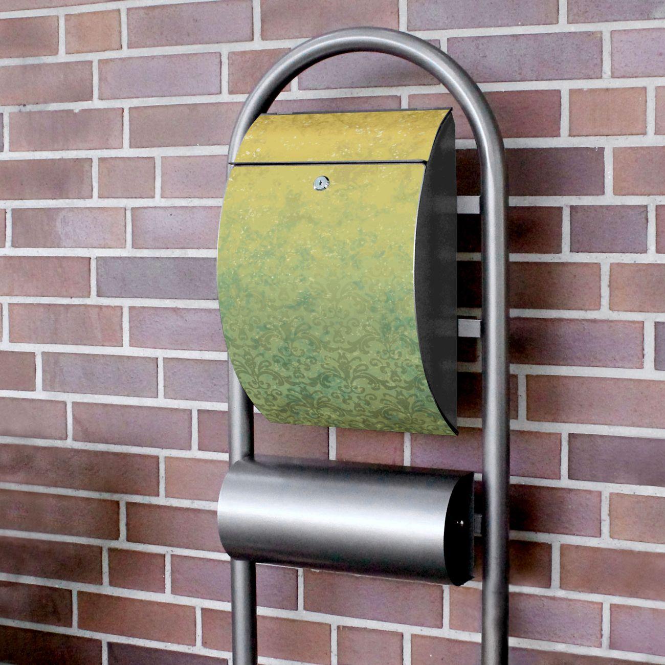 Standbriefkasten Hammerschlag Vintage Messing