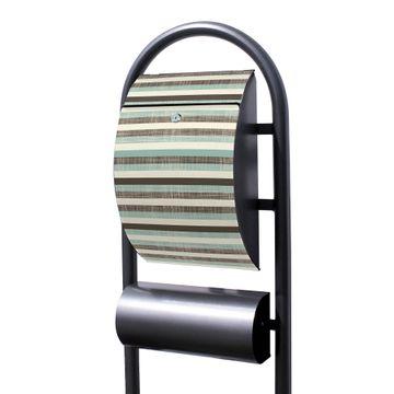 Standbriefkasten Hammerschlag Textile Streifen